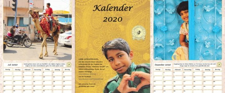 Die Kalender für 2020