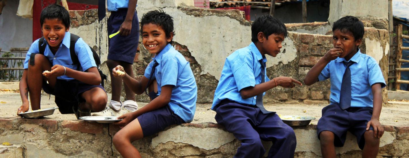 Kinder Indien Schule