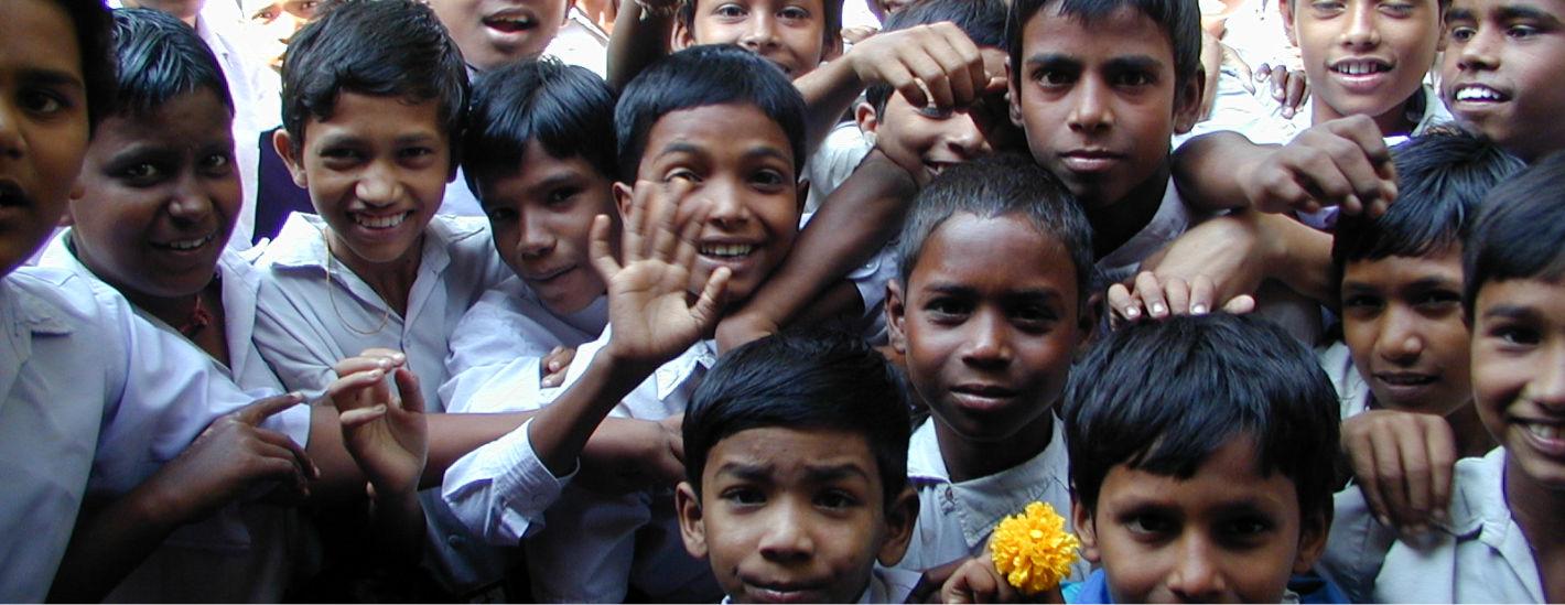 Kinderlachen Indien